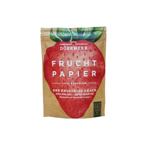 fruchtpapier apfel erdbeere d rrwerk jede frucht ist sch n. Black Bedroom Furniture Sets. Home Design Ideas
